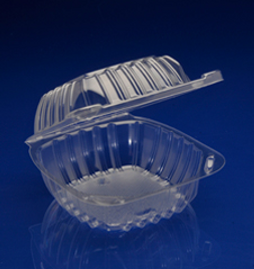 """CHC-6X3 6x6x3"""" Clear Hinged Container (500/Case)"""