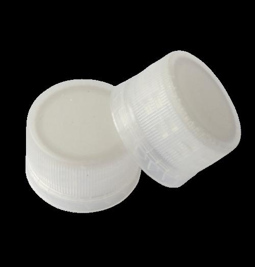 Natural 28mm PCO Tamper Evident Caps for 2 oz Round PET Juice Shot Bottles (3800/Case)