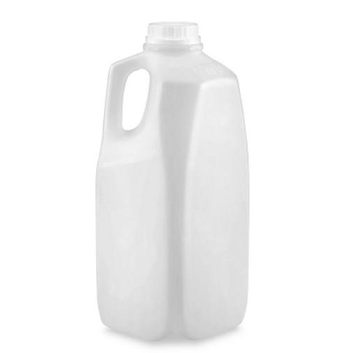 64 oz 1/2 Gal Natural Milk Jug w/ Handle (108/Pack)