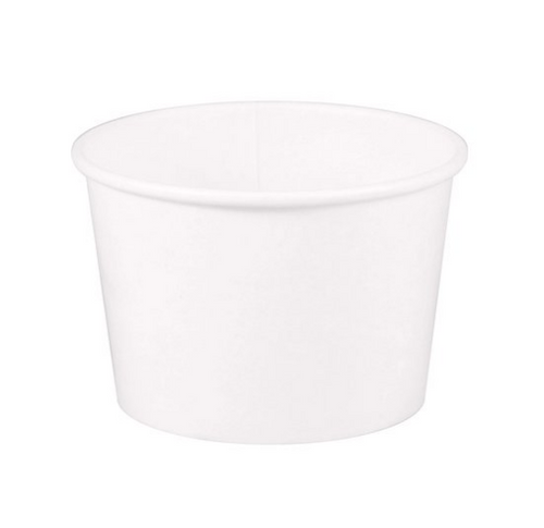 8 oz White Paper Food Container, 95mm (1000/Case)