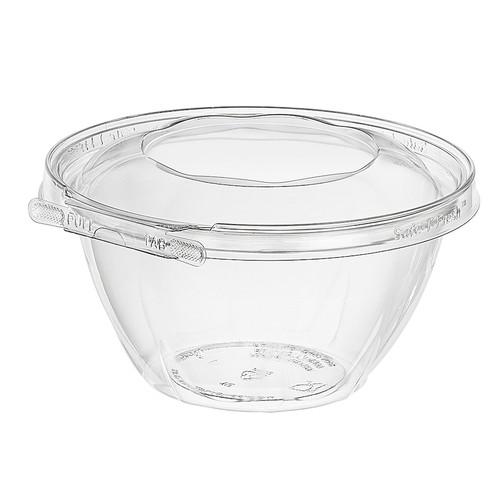 TS32RN Inline Plastics 32 oz Tamper Evident Tear-Strip Bowl (150/Case)
