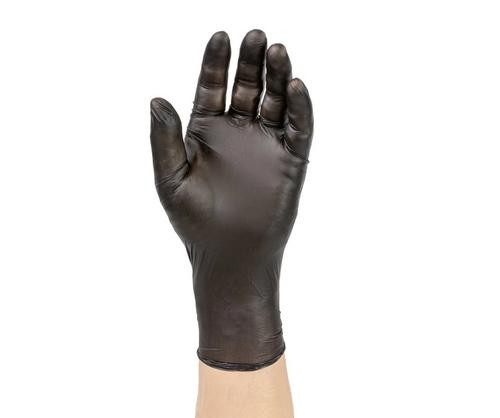 Large Black Hybrid Nitrile/Vinyl Blend Gloves, 5.5g, Powder Free (10/100/Case)
