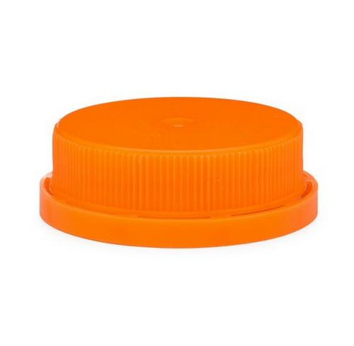 38-400 Orange Juice Milk Jug Caps, Tamper Evident, Ratchet (2400/Case)