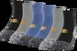Men's Performance Stripe Ankle (Black/Grey/Slate Blue)
