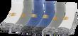 Men's Performance Stripe Low Cut (White/Grey/Slate Blue)