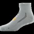 Men's Side Dash Flat Knit Ankle (Black/Aqua)