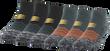 Men's Wave Strategic Cushion No Show (Grey/Orange)