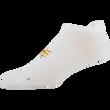 Men's Zig Zag Flat Knit Tab No Show (White/Silver)