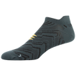 Men's Zig Zag Flat Knit Tab No Show (Dark Grey/Black)