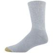 Men's Cotton Short Crew Athletic Sock (White/Grey Heather)