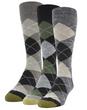 Men's Carlyle Argyle Crew Socks, 3 Pairs (Black Marl/Green Black/Taupe Heather)