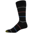 Men's Football/Triple Stripe Dress Crew Socks, 2 Pairs (Football/Triple Stripe)