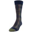 Men's Royal Stewart/Stripe Dress Crew Socks, 2 Pairs (Royal Stewart/Stripe)