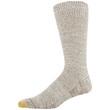 Men's Heavy Nep Pique Lodge Sustainable Crew Socks, 2 Pairs (Khaki Marl/Black Marl)