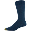 Men's Heavy Nep Pique Lodge Sustainable Crew Socks, 2 Pairs (Navy Marl/Dark Turquoise)