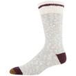 Men's Chunky Slub Lodge Sustainable Crew Socks, 2 Pairs (Light Grey/Black Marl)