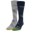 Men's Holiday Truck/Plaid Dress Crew Socks, 2 Pairs (Holiday Truck/Plaid)