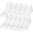 Women's Cushion No Show Socks, 10 Pairs (White)