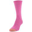 Women's Crew Socks, 6 Pairs (Fuchsia, Pink Pearl, Iron Marl, Grey, Peacoat, Navy)