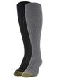 Gold Toe Women's Eco Tuckstitch Knee Highs, 2 Pairs (Charcoal, Black)