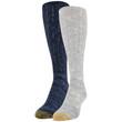 Gold Toe Women's Slouch Socks, 2 Pairs (Chambrey, Denim)