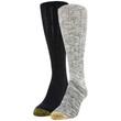 Gold Toe Women's Slouch Socks, 2 Pairs (Black/White, Black)