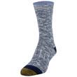 Women's Lux Spacedye Slub Crew Socks, 2 Pairs (Washed Blue, Midnight)