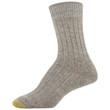 Gold Toe Women's Marled Rib Crew Socks, 3 Pairs (Bright Coral, Khaki Marl, Chocolate)