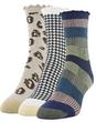 Women's Modern Audrey Midi Crew Socks, 3 Pairs (Peacoat, Black/White, Khaki)