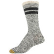 Women's Recycled Cable Stripe Crew Socks, 2 Pairs (Grey Marl, Black)