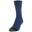 Women's Recycled Soft Cable Crew Socks, 2 Pairs (Washed Blue, Peacoat)