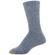 Women's Wool Recycled Crew Socks, 2 Pairs (Washed Blue, Peacoat)