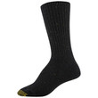 Women's Wool Recycled Crew Socks, 2 Pairs (Charcoal, Black)