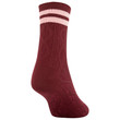 Women's Retro Stripe Cable Midi Crew Socks, 3 Pairs (Red, Ivory, Cabernet)