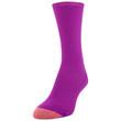 Women's Textured Crew Socks, 3 Pairs (Forest, Dark Pink, Grape)