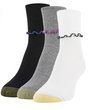 Women's Ruffled Turn Cuff Crew Socks, 3 Pairs (White, Grey Heather, Black)