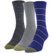 Women's Roll Top Crew Socks, 3 Pairs (Royal, Grey Marl, Charcoal)