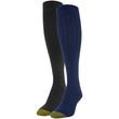 Women's Ultra Soft Tipped Knee High Socks, 2 Pairs (Peacoat, Black)