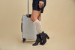 Women's Cotton/Rayon Dot Compression Knee High