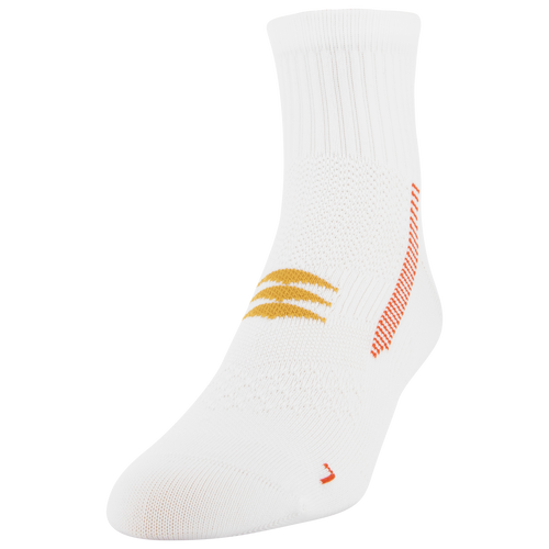 Men's Side Dash Flat Knit Ankle (White/Orange)