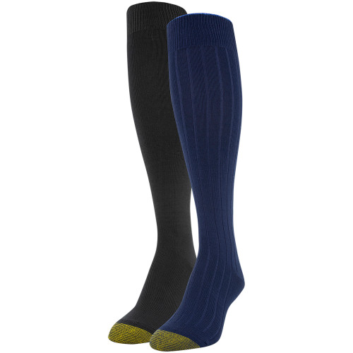 Women's Ultra Soft Tipped Knee High Socks, 2 Pairs (Peacoat, Black)