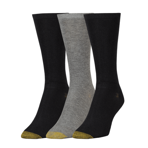 Women's Non-Binding Flat Knit Crew Socks