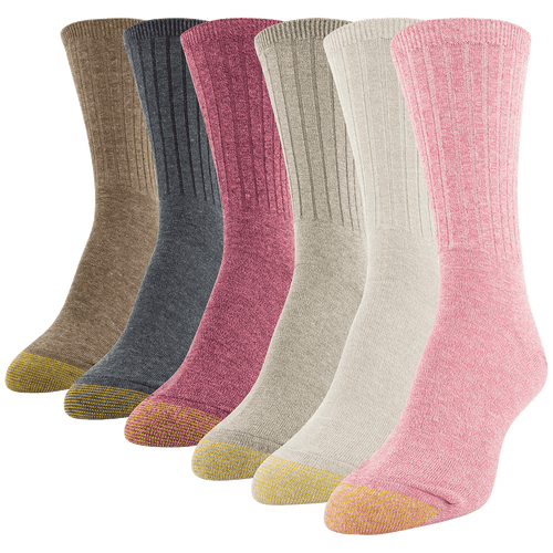 Women's Casual Ribbed Crew Sock