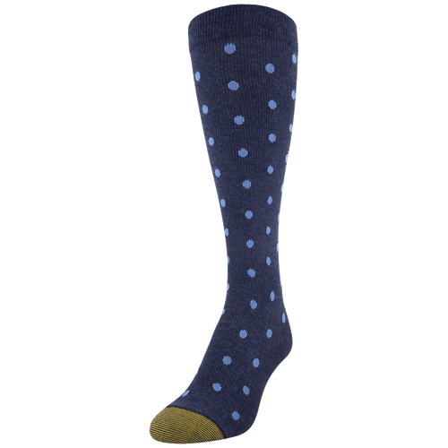 Women's Cotton/Rayon Dot Compression Knee High