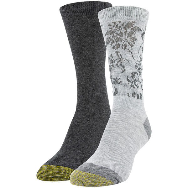 Women's Tapestry Ultra Slouch Socks, 2 Pairs (Grey Heather, Charcoal Heather)