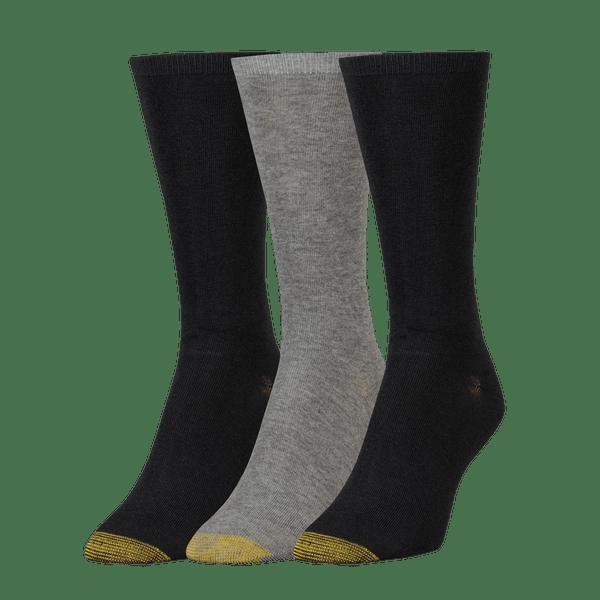 Women's Non-Binding Flat Knit Crew Socks