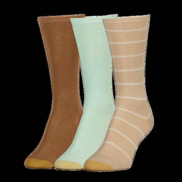 Women's Non-Binding Flat Knit Crew Sock
