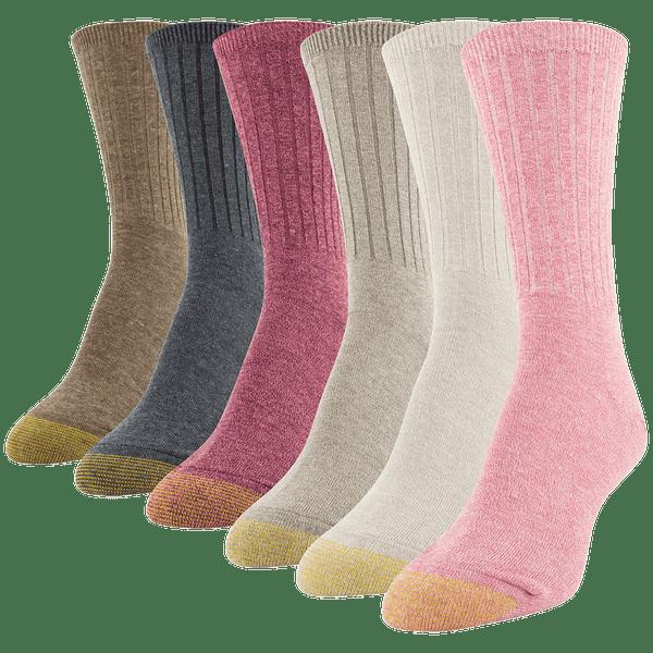 Women's Casual Ribbed Crew Sock