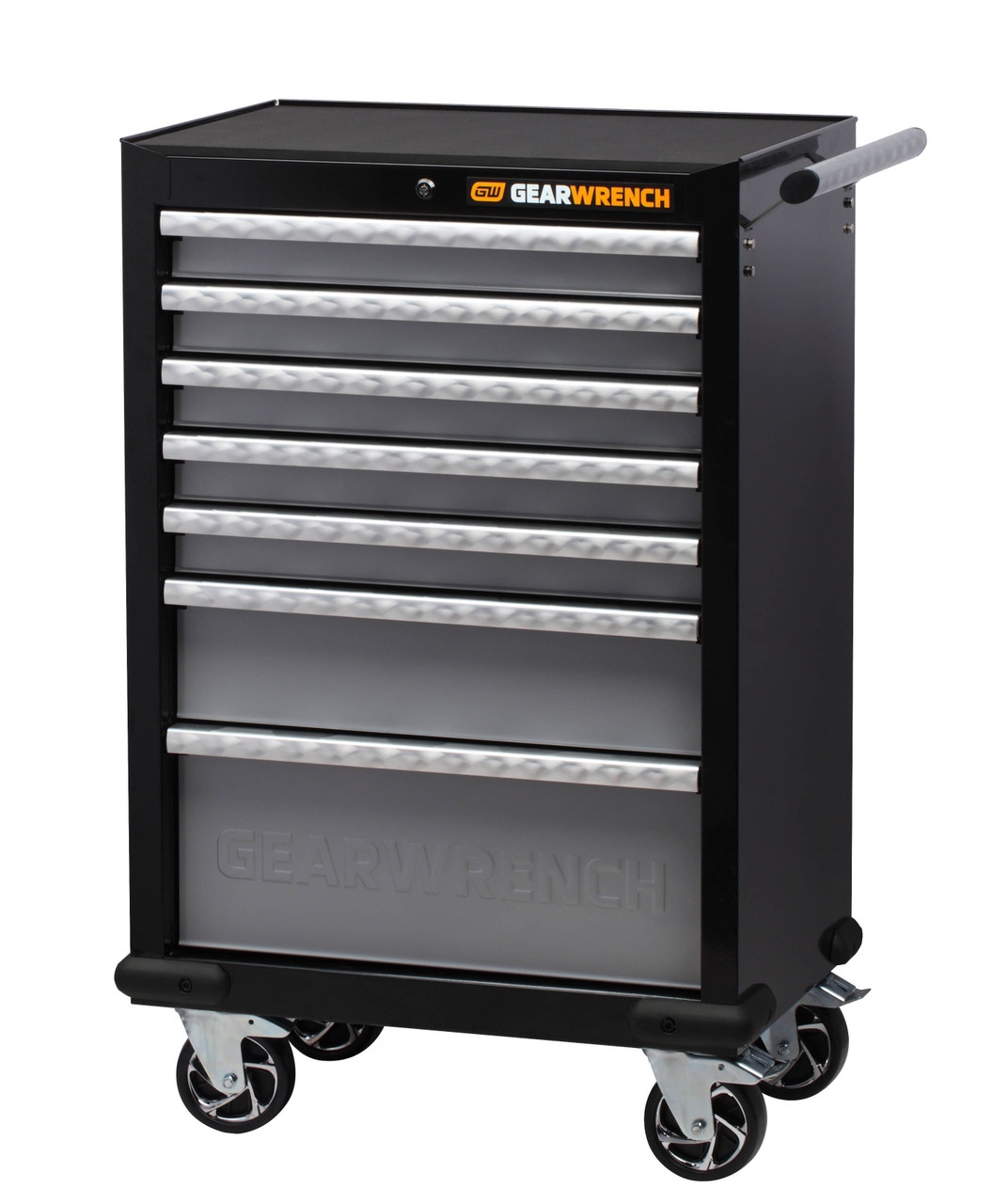 """Gearwrench 271 Pc Combination Tool Kit + 26"""" Tool Trolley with Side Cabinet"""
