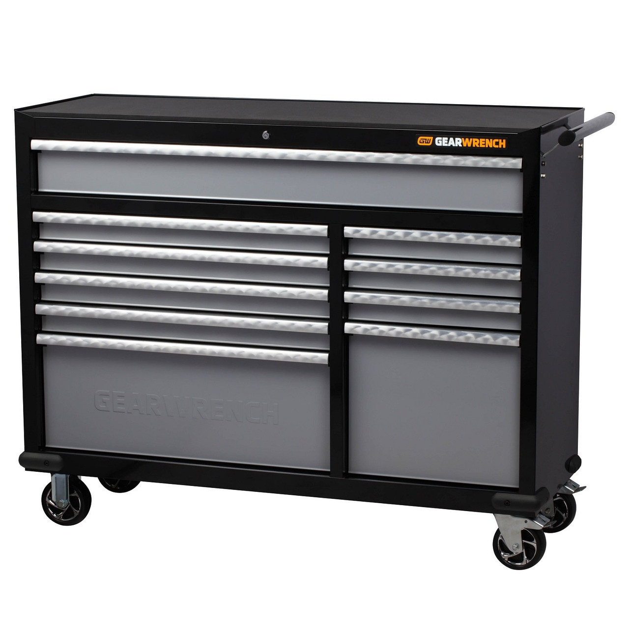 """Gearwrench 649 Pc Combination Tool Kit + 26"""" Tool Chest (x2) & 53"""" Trolley with Side Cabinets (x2)"""